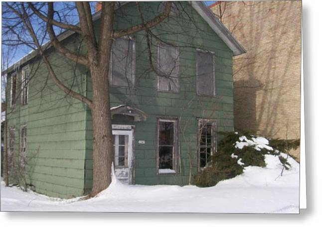 Abandoned Home Menominee Greeting Card