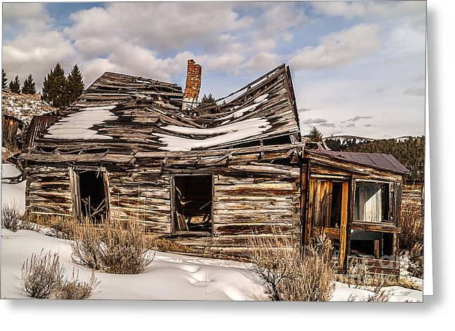 Abandoned Home Or Business Greeting Card by Sue Smith