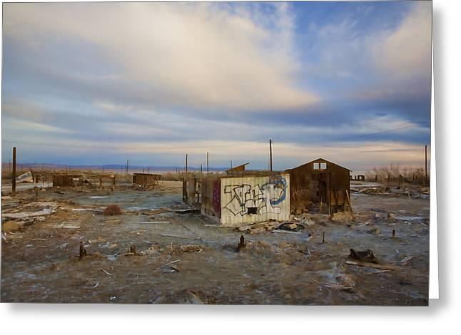 Abandoned Home Salton Sea Greeting Card by Hugh Smith