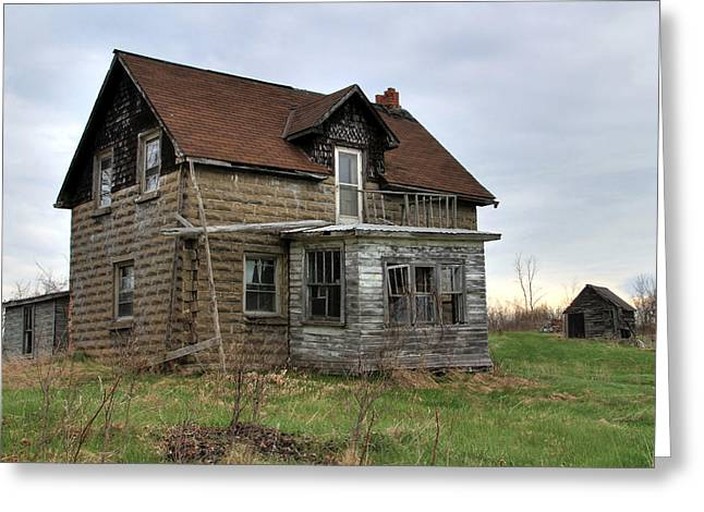 Greeting Card featuring the photograph Abandoned Homestead by Jim Vance