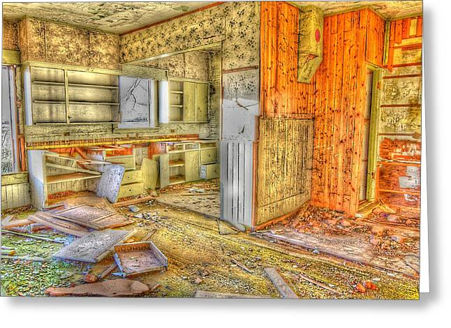 Abandoned House 1 Greeting Card by Bonnie Bruno