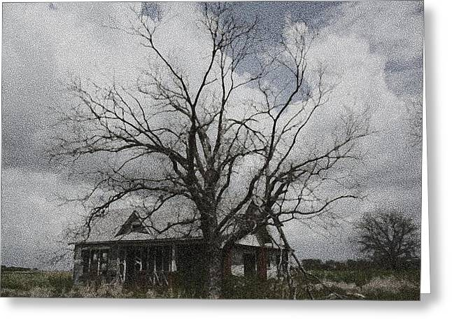 Abandoned House Greeting Card by Donna G Smith