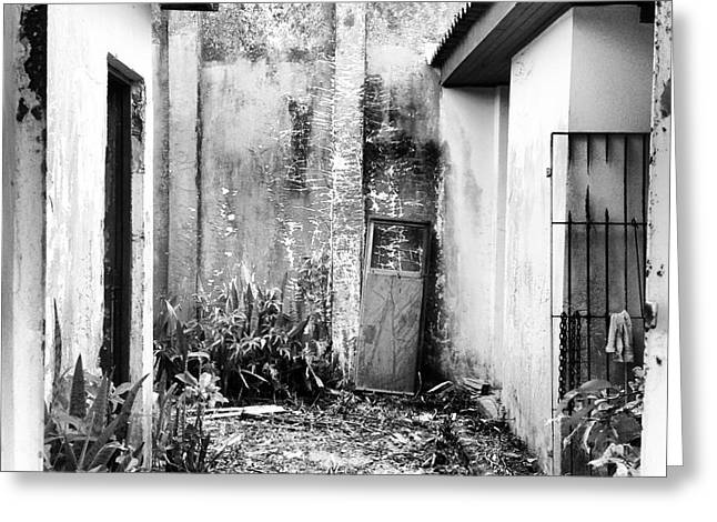 Abandoned House In Beautiful Scenario Greeting Card