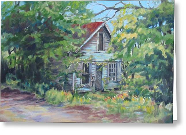 Abandoned House In Galivants Ferry Greeting Card