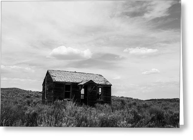 Abandoned House In Oklahoma Greeting Card