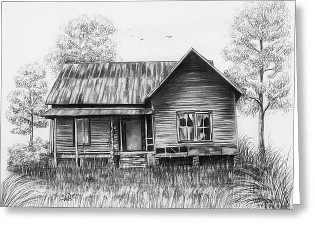 Abandoned House Greeting Card by Lena Auxier