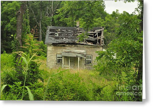 Abandoned House Greeting Card by Mike Baltzgar