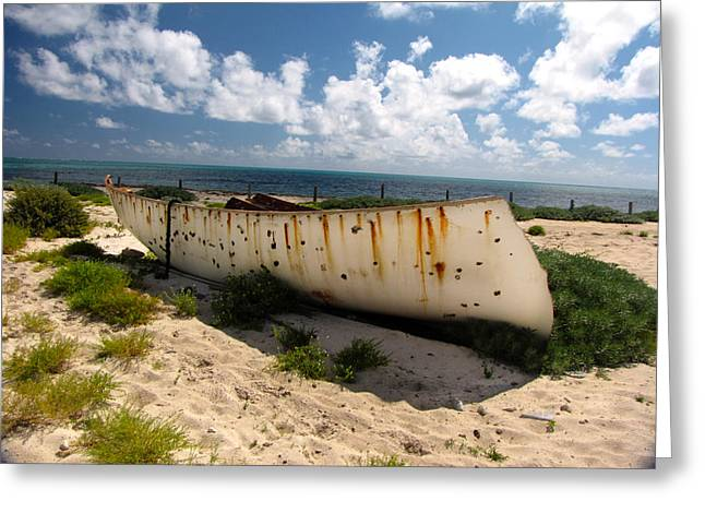 Abandoned In Grand Turk Greeting Card by Denise Keegan Frawley