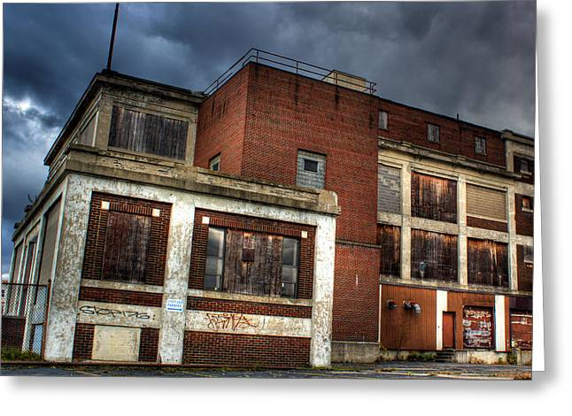 Abandoned In Hdr Greeting Card by Tim Buisman