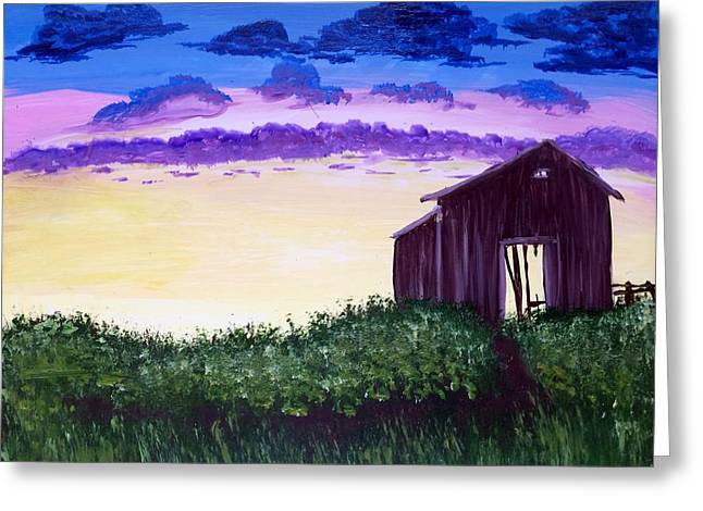 Abandoned In The Evening Greeting Card by Joy Gilley