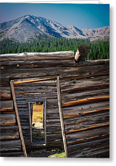 Abandoned Log Cabin In Independence Colorado Greeting Card by Julie Magers Soulen