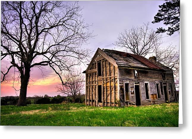Abandoned Memories - Gateway, Arkansas Greeting Card by Gregory Ballos