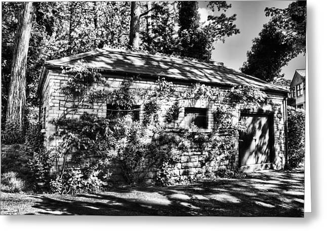 Abandoned Mono Greeting Card by Steve Purnell