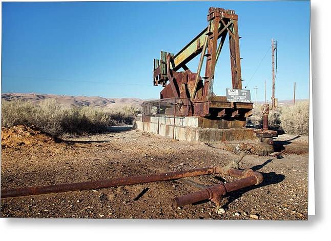 Abandoned Oil Well Greeting Card