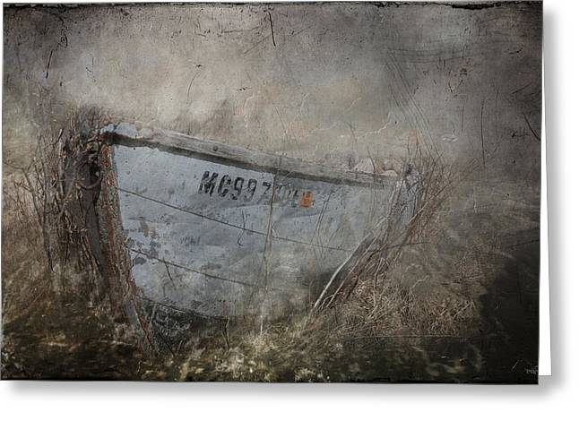 Abandoned On Sugar Island Michigan Greeting Card by Evie Carrier
