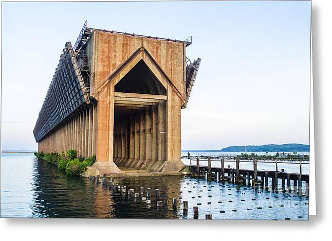 Abandoned Ore Dock Marquette Michigan Greeting Card