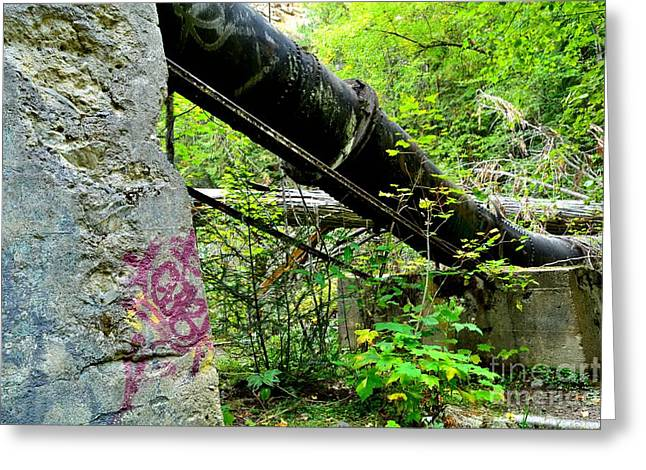 Abandoned Pipeline I Greeting Card by Phil Dionne