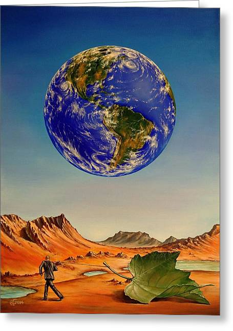 Abandoned Planet Greeting Card by Svetoslav Stoyanov