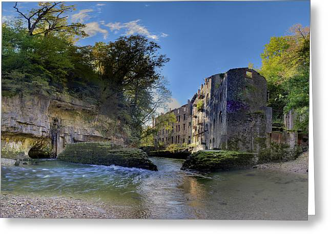 Abandoned Plant Along Valserine River Greeting Card by Patrick Jacquet