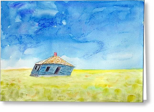 Abandoned Prairie Greeting Card