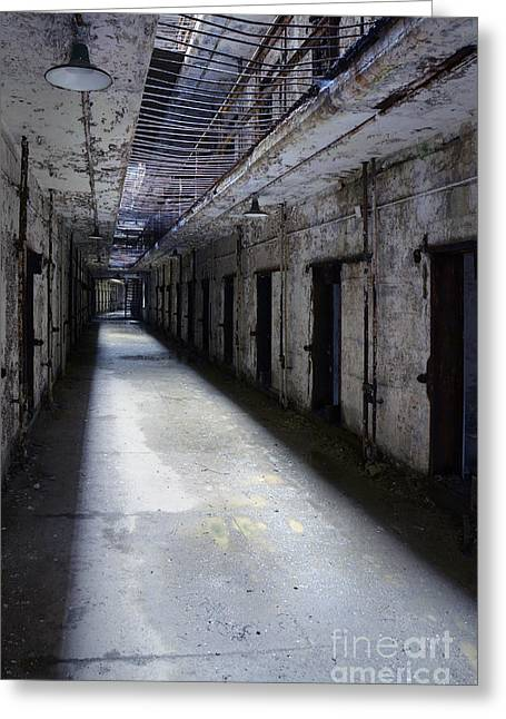 Abandoned Prison Greeting Card by Jill Battaglia