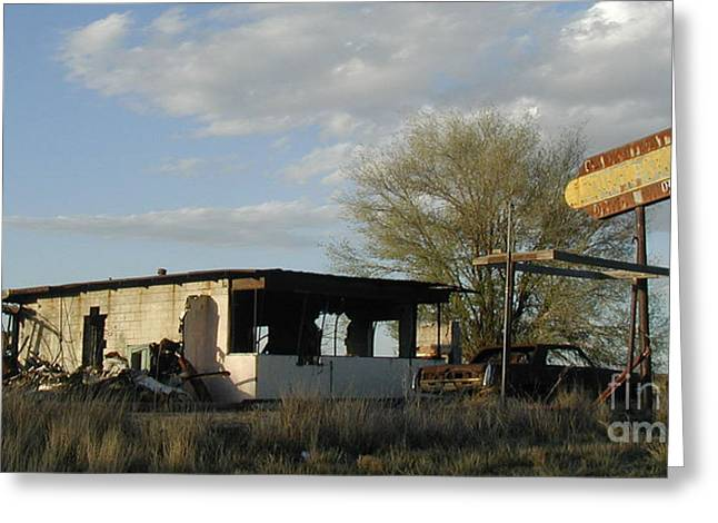abandoned Route 66 Liquor Store Greeting Card by James T
