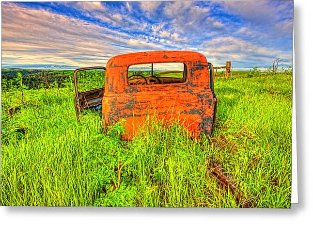 Abandoned Rusting Truck Greeting Card