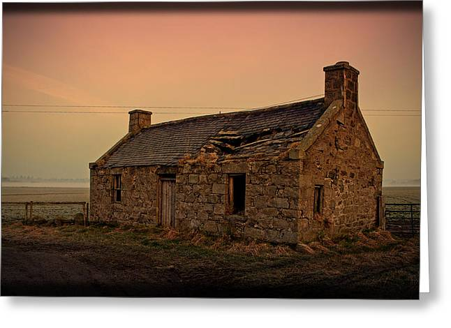 Abandoned Scottish Croft Greeting Card