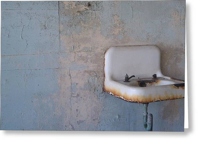 Abandoned Sink Greeting Card