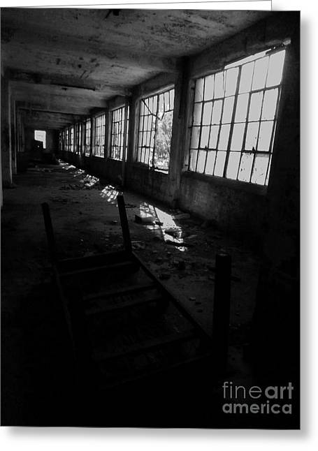 Abandoned Space IIi - Bw Greeting Card