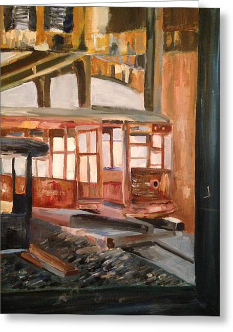 Abandoned Streetcar In Savannah Greeting Card by Christina Campo-Abdoun