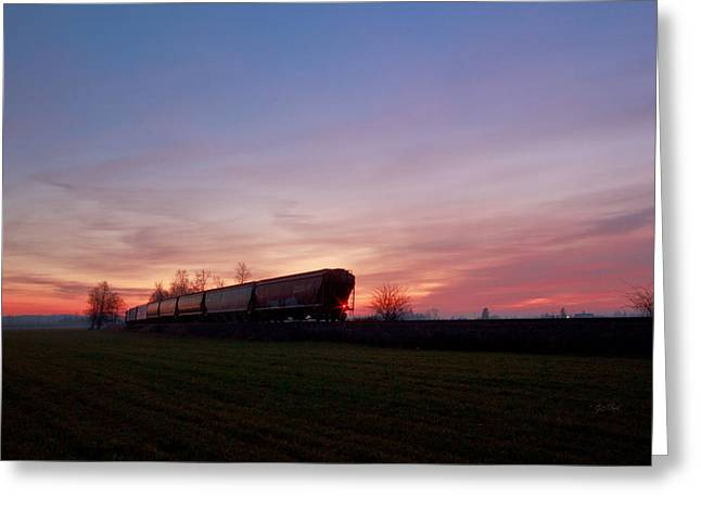 Greeting Card featuring the photograph Abandoned Train  by Eti Reid