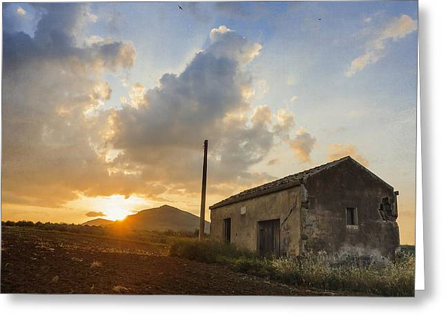 Abandoned Warehouse Greeting Card by Alfio Finocchiaro