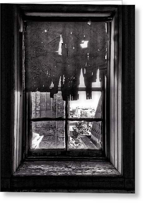 Abandoned Window Greeting Card by H James Hoff
