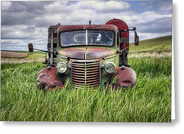 Abandoned Work Truck - Gmc  - Palouse Greeting Card by Nikolyn McDonald
