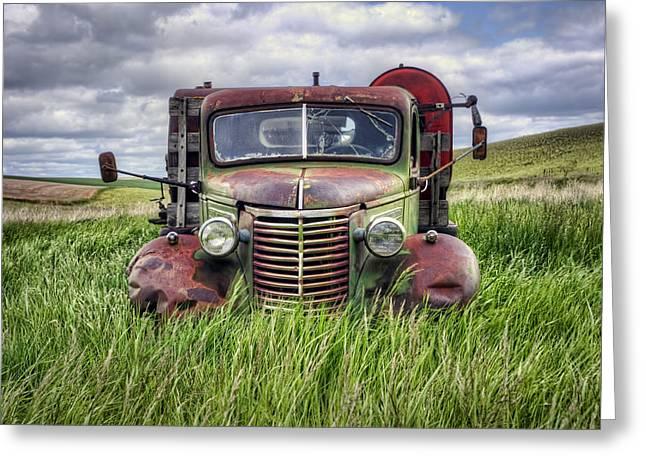 Abandoned Work Truck - Gmc  - Palouse Greeting Card