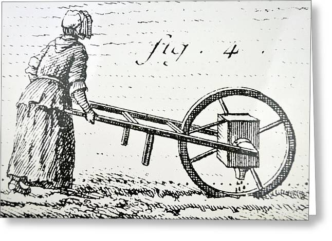 Abbe Soumille's Seed Drill Greeting Card by Universal History Archive/uig