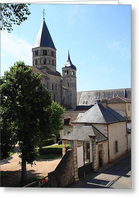 Abbey Cluny  Greeting Card by Christiane Schulze Art And Photography