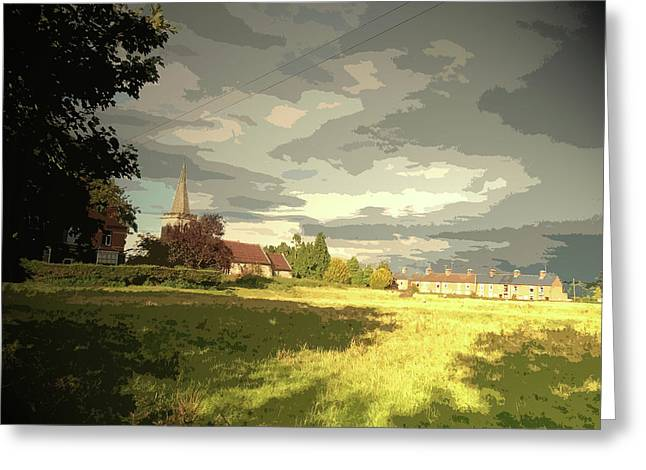 Abbey Fields And St Michaels Church In, Historic Site Greeting Card