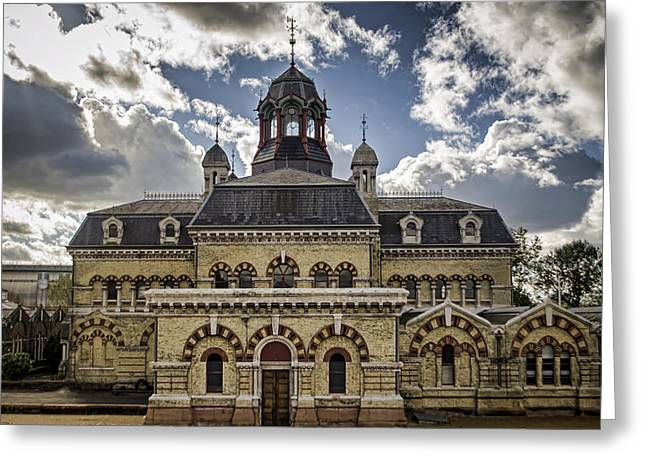 Abbey Mills Pumping Station Greeting Card by Heather Applegate