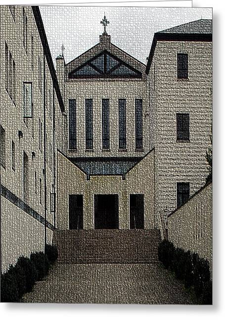 Abbey Of Gethsemani-entrance II Greeting Card by Thia Stover