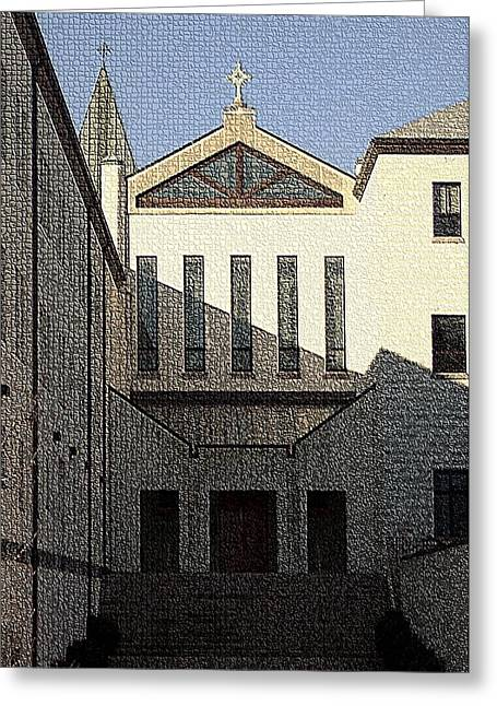 Abbey Of Gethsemani-entrance Greeting Card by Thia Stover