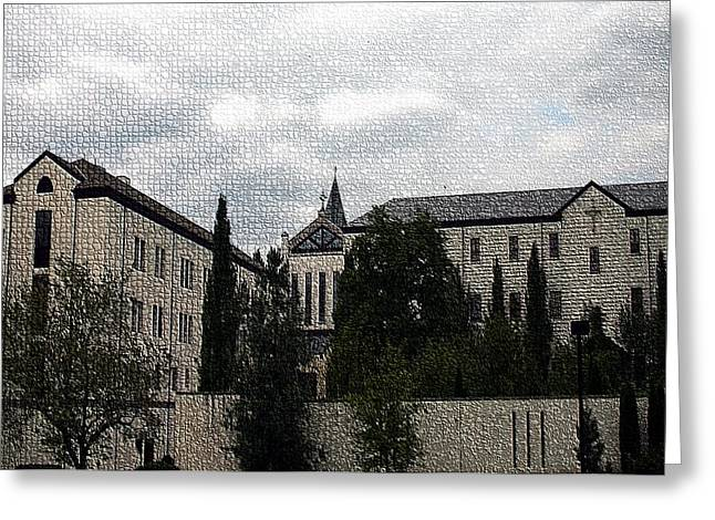 Abbey Of Gethsemani Greeting Card by Thia Stover