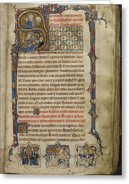 Abbey Of Peterborough Greeting Card by British Library
