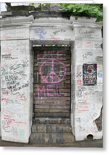 Abbey Road Graffiti Greeting Card