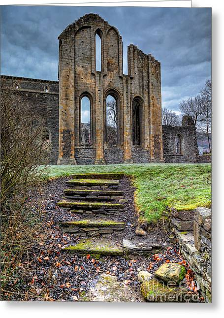 Abbey Steps Greeting Card by Adrian Evans