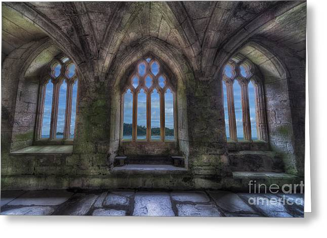 Abbey View Greeting Card by Adrian Evans