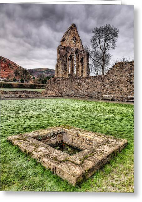 Abbey Well Greeting Card by Adrian Evans