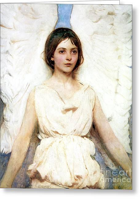 Angel Greeting Card by Abbott Handerson Thayer
