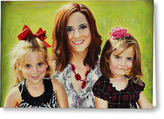 Abby And The Girls Greeting Card